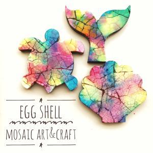 卵の殻さえあれば世界中で楽しめる!卵の殻の虹色モザイク EGG SHELL MOSAIC ®