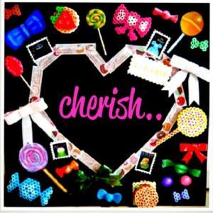 cherish..~candle&chalkart~