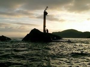 沈め探り釣りから根掛かり