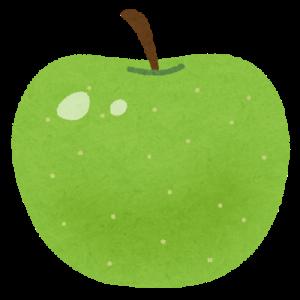 りんごの青