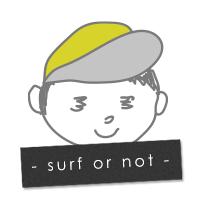 サーフィンブログ -Surf or not-