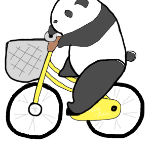 パンダちゃんサイクリング