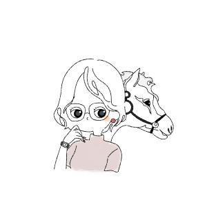 白馬にのったリケジョ