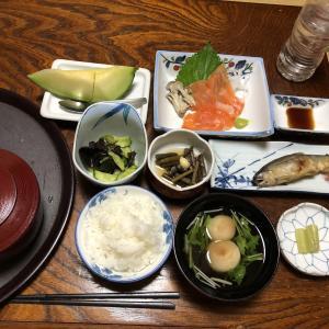 栃尾又温泉神風館に一人宿泊(ご飯)