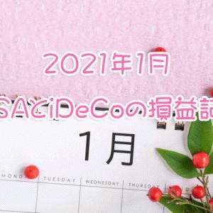 明けましておめでとう★2021年1月積立NISAとiDeCoの損益記録