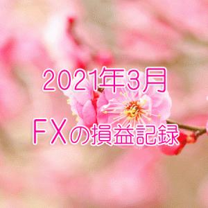 2021年3月のFX記録(7ヶ月目の主婦の損益記録です)