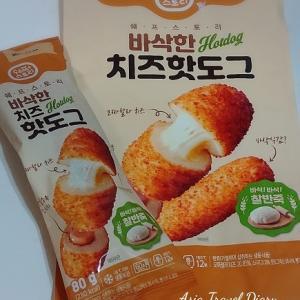 韓国気分☆チーズハッドグいただきまーす♪