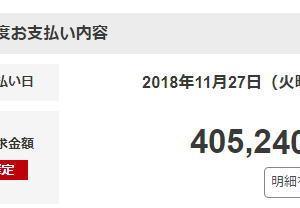 楽天カードの請求額が40万円超え。過去最高です汗