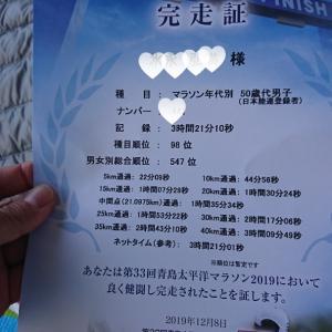 青島大平洋マラソン結果報告