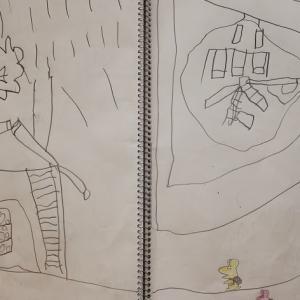 0MX22:5歳11カ月② 台風でお勉強どころじゃない