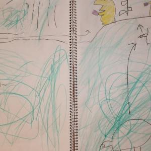 0MX14:5歳9カ月⑤ 分からん帳(カメのごはんは葉っぱ半分)