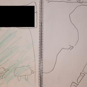 0MX13:5歳9カ月⑥ 分からん帳(カメとミノムシが友達をさそって散歩)