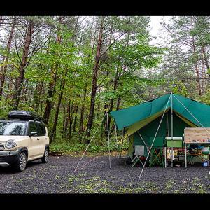 vlog カンパーニャ嬬恋 温帯低気圧の雨キャンプ
