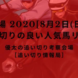 【平場 2020[8月2日(日)]】追い切りの良い人気馬リスト