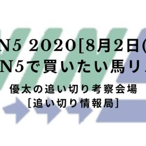 【WIN5 2020[8月2日(日)]】WIN5で買いたい馬リスト