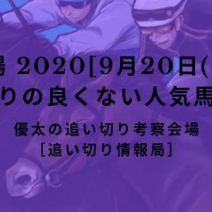 【平場 2020[9月20日(日)]】追い切りの良くない人気馬リスト