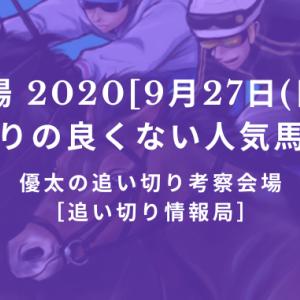 【平場 2020[9月27日(日)]】追い切りの良くない人気馬リスト