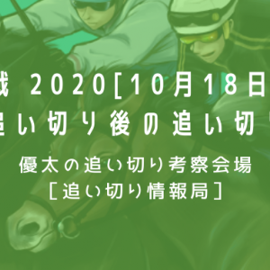 【新馬戦 2020[10月18日(日)]】最終追い切り後の追い切り考察