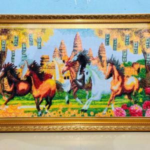 カンボジアの大きな刺繍絵