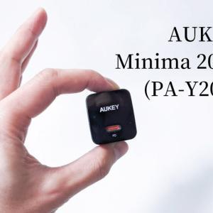 新発売、AUKEYの軽量充電器「Minima 20W」をソッコーレビュー。PD対応。折り畳めてコンパクト。