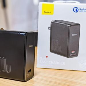 """BaseusのGaN2急速充電器をレビュー。USB-C単一ポートで最大100W出力の""""世界初""""QC5搭載器"""