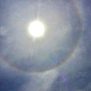 先日太陽の周りに虹の様な〜🌈