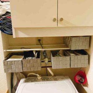 デッドスペースを活用して収納を増やす~その1 洗濯機上