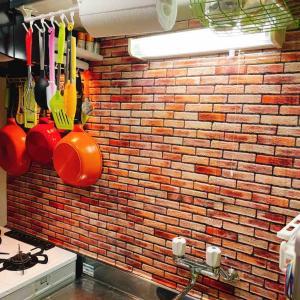 seriaのキッチン汚れ防止シートを使って気分が上がるキッチンリメイクをしました