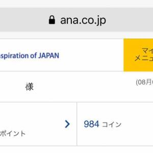 ANAのSKYコインの延長期限がさらに延長に!!