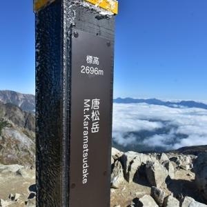 大展望の唐松岳山頂より