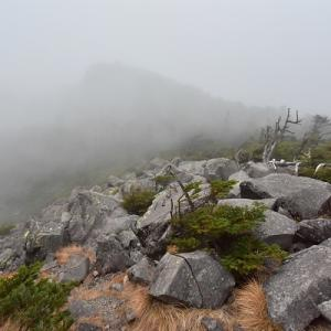 三ツ岳Ⅱ峰へ