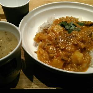 スープストックトーキョー 『女川産さんまのキーマカレー、ポロ葱と白いんげん豆のミネストローネ』