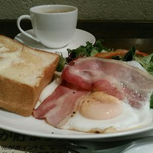 上島珈琲店 『ベーコンエッグ&厚切りバタートースト』