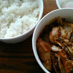 松屋 『お肉たっぷり回鍋肉定食 半熟玉子』
