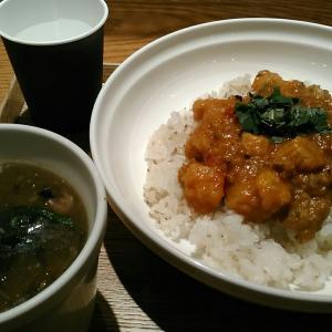スープストックトーキョー 『女川産さんまのキーマカレー、酸辣湯(サンラータン)』