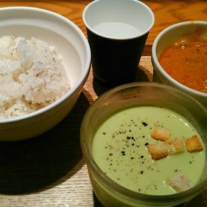 スープストックトーキョー 『えんどう豆の冷たいグリーンポタージュ、野菜のアヴィヤル』