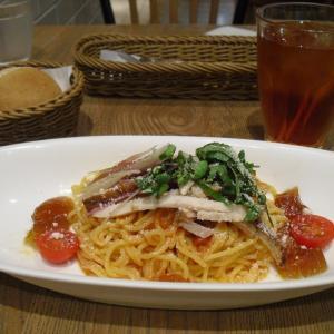 アフタヌーンティールーム 『ローストポークと香味野菜の冷製トマトソースパスタ』