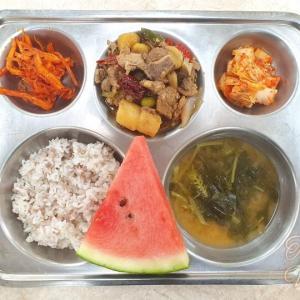 韓国の学校給食の写真公開!オーガニックの無償給食に?!