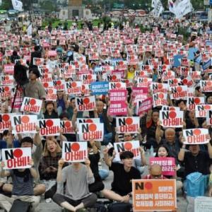 韓国の「反日デモ」の正体は「反安倍デモ」だった-韓国のニュース(日経)