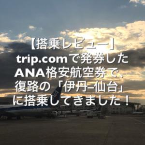trip.comで発券したANA格安航空券で搭乗してきました!(復路)【搭乗レビュー】