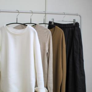Uniqlo Uの新作が気になって、今朝は一人ファッションショー。