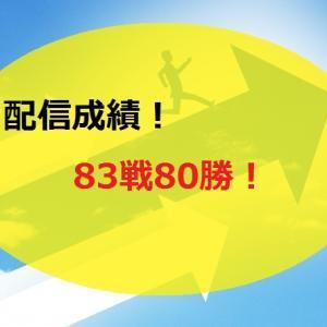 【2020.7/13~】FX無料配信サービス配信結果【83戦80勝】