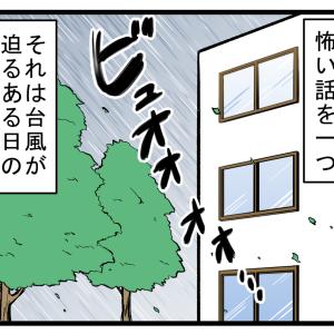 台風の日に窓を開けているとこうなる