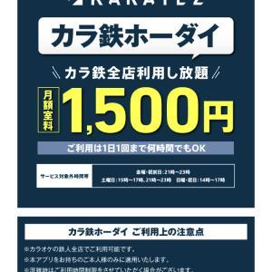 カラ鉄放題 1,650円/月【カラオケスブサク】