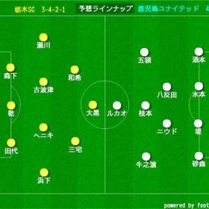 J2 第33節 栃木SC vs 鹿児島ユナイテッドFC プレビュー (ココグリ掲載用)