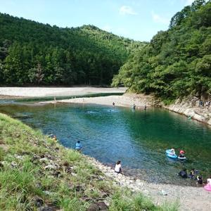 暑いときは、赤木川に飛び込むのだ!! 新宮市小口キャンプ場