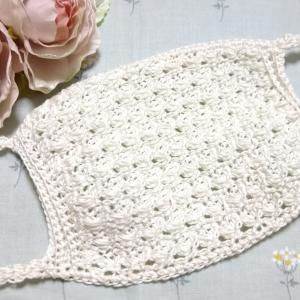 かぎ針編みでつくるマスクカバー♪ ATELIER *mati*さんの編み図を参考にして編みました