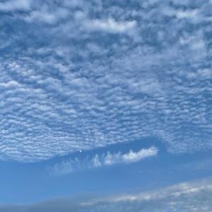夕方、今日の空