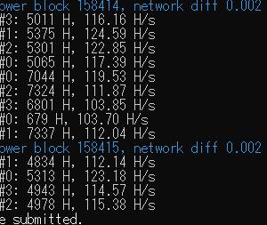 仮想通貨 マイニング CPU種類の違いでの効率