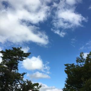 神様雲がニッコリ!